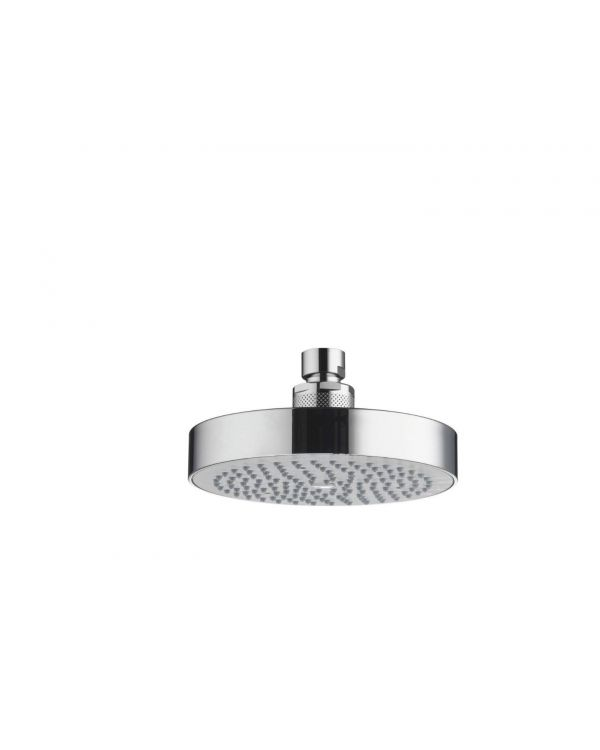 Fixed round drencher Shower head - 140mm, Chrome