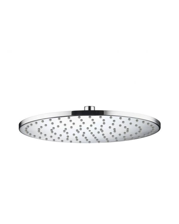 300mm Round slim metal shower head - Chrome