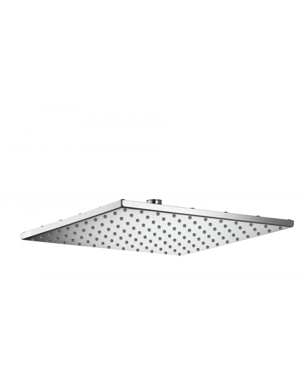 300mm Square thin metal fixed shower head - Chrome