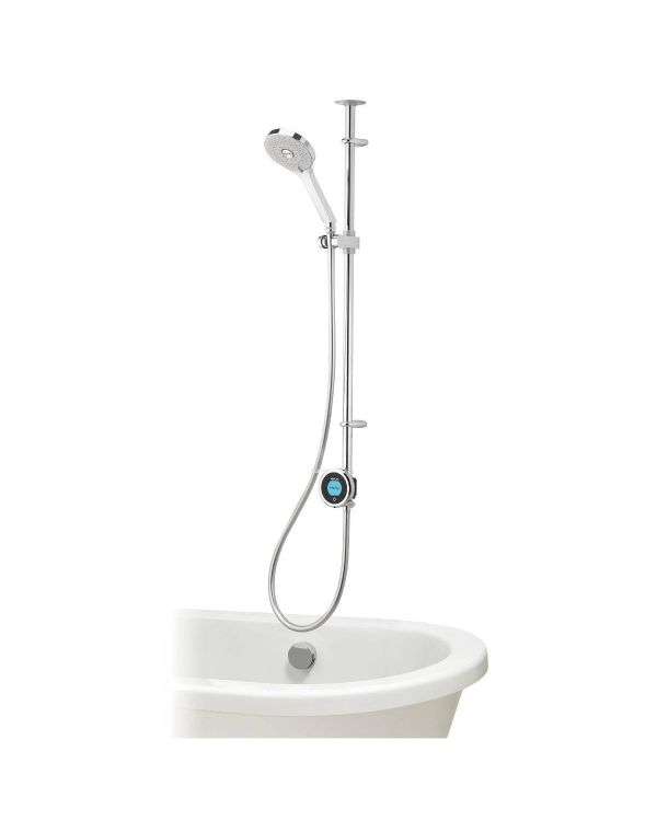 Optic Q Smart Digital Shower Exposed with Bath Fill and Adjustable Head (HP/Combi)