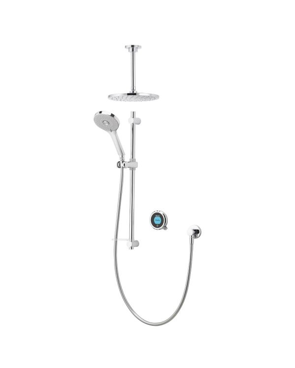 Optic Q Smart Digital Shower Concealed with Adjustable and Ceiling Fixed Head (Gravity Pumped)