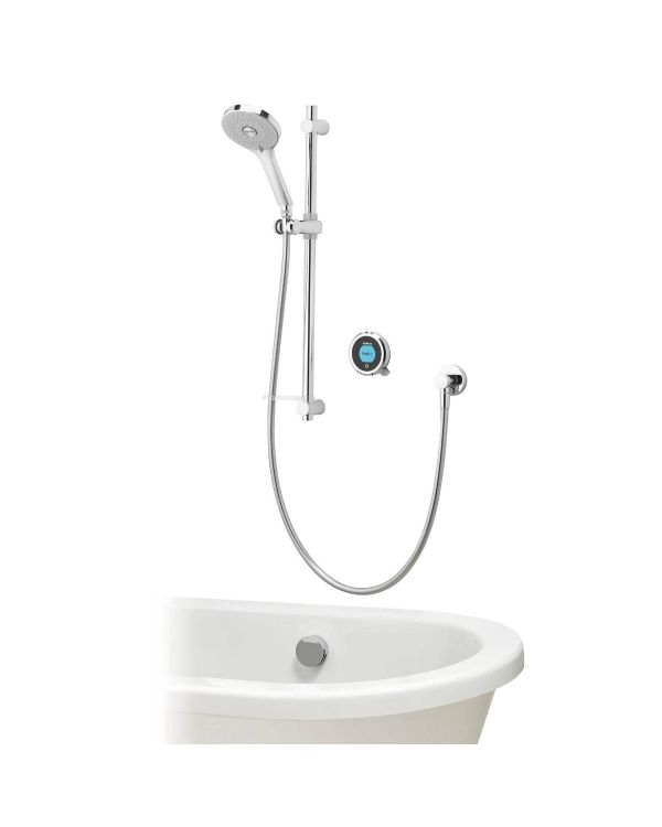 Optic Q Smart Digital Shower Concealed with Adjustable Head and Bath Fill (Gravity Pumped)