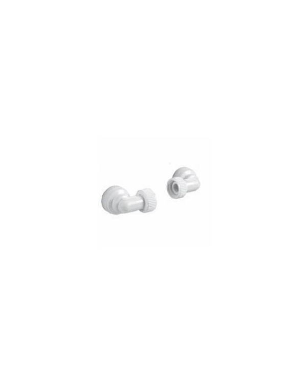 Aquavalve 200/400 22mm Inlet Elbows (x2) - White