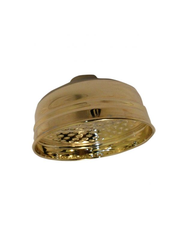 125mm Traditional Drencher Shower Head - Gold