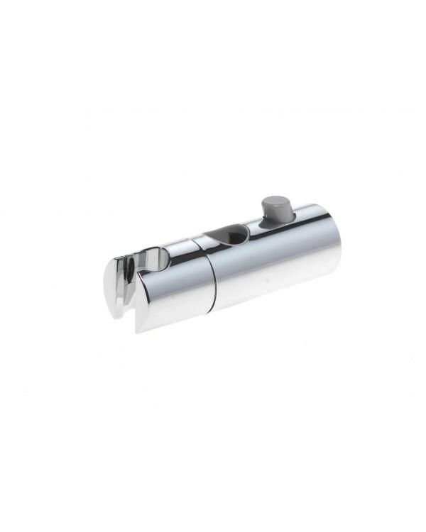 Push Button Shower Head Holder 22mm  - Chrome