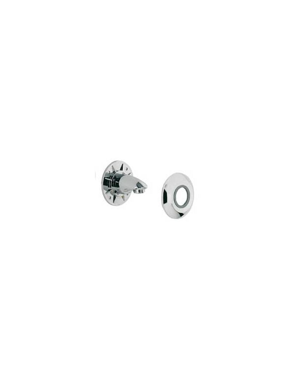 Varispray Adjustable Shower Head Wall Outlet/Cover Plate - Chrome