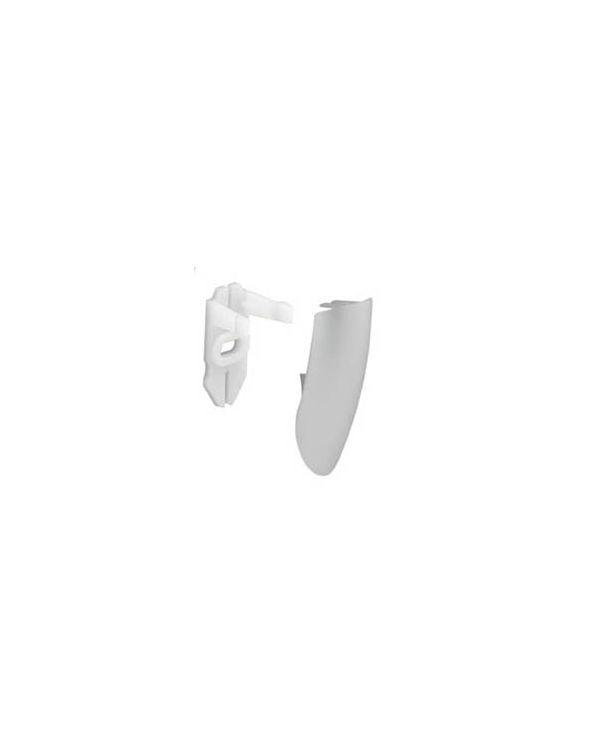 25mm Shower Rail End Cover (Pair) - White
