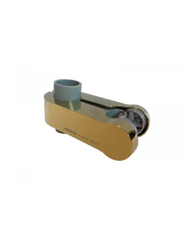 Pinch Grip Shower Head Holder - Gold, 25mm