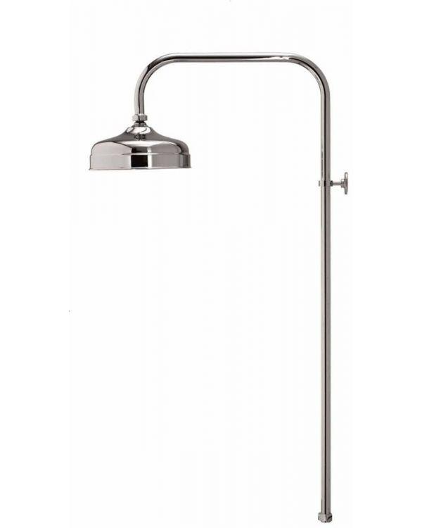 Aquatique exposed fixed shower head - 200cm, Chrome
