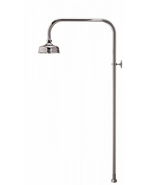 Aquatique exposed fixed shower head - 125cm, Chrome
