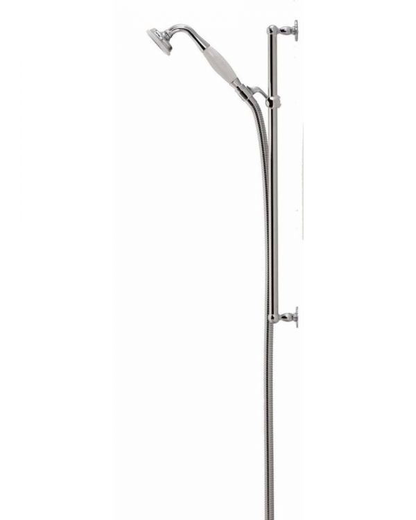 Aquatique exposed adjustable shower head - Chrome